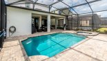 Villa rentals near Disney direct with owner, check out the View of pool towards covered lanai