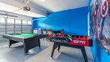 Games room with pool table & table foosball from Fiji 9 Villa for rent in Orlando