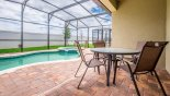 Villa rentals in Orlando, check out the View of pool from covered lanai