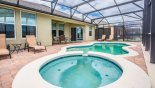 Pool deck with 4 sun loungers from The Dales at West Haven rental Villa direct from owner