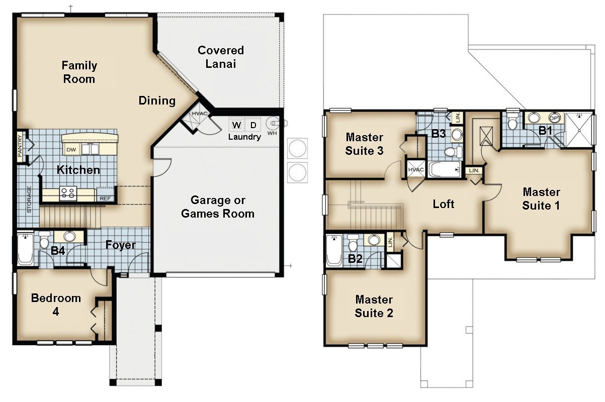 Naples Beach 2 Floorplan