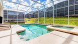 Spacious rental Champions Gate Villa in Orlando complete with stunning Pool deck gets the sun all day