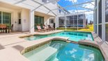 Orlando Villa for rent direct from owner, check out the Pool deck with 3 sun loungers and patio table with 6 chairs under shady lanai