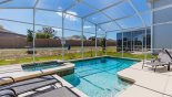 Villa rentals near Disney direct with owner, check out the Pool deck gets the sun all day - 4 sun loungers for your comfort provided