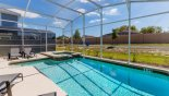 Spacious rental Champions Gate Villa in Orlando complete with stunning South facing pool & spa with no rear neighbours