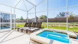 Villa rentals near Disney direct with owner, check out the Sunny south facing pool deck with 4 sun loungers