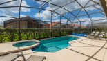 West facing pool & spa from Magna Bay 4 Villa for rent in Orlando