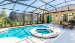 Spacious rental Solterra Resort Villa in Orlando complete with stunning Sunny extended north facing pool deck gets the sun all day