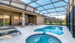 Spacious rental Solterra Resort Villa in Orlando complete with stunning Pool deck with 4 sun loungers