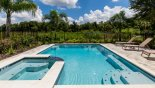 Crestview 7 Villa rental near Disney with Sunny north-east facing extended deck with heated pool & spa