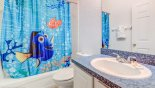 Villa rentals near Disney direct with owner, check out the Nemo themed family bathroom #3 with bath & shower over