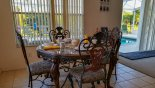 Villa rentals in Orlando, check out the Breakfast nook with round table and 4 chairs in kitchen