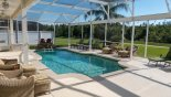 Villa rentals in Orlando, check out the Our large, extended pool deck with no rear neighbours