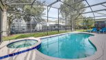 Orlando Villa for rent direct from owner, check out the Sunny pool & spa with mature trees to rear