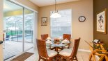 Villa rentals near Disney direct with owner, check out the Breakfast nook seating 4 with views & access onto pool deck