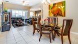 Orlando Villa for rent direct from owner, check out the Dining area viewed towards family room