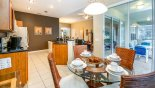 Spacious rental Windsor Hills Resort Villa in Orlando complete with stunning Breakfast nook viewed towards kitchen & family room