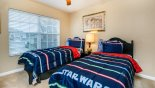Upstairs bedroom #5 with twin beds from Spencer 1 Villa for rent in Orlando