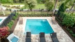 View of pool deck from master #1 balcony - www.iwantavilla.com is your first choice of Villa rentals in Orlando direct with owner