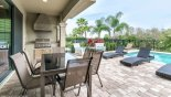 Villa rentals near Disney direct with owner, check out the Covered lanai with built-in gas BBQ