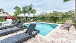 Spacious rental Reunion Resort Villa in Orlando complete with stunning Beautiful pool deck with east facing conservation views