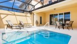 Townhouse rentals in Orlando, check out the Pool deck with 2 sun loungers - small door leads to pool cloakroom