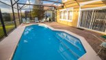 Spacious rental Encantada Townhouse in Orlando complete with stunning Pool deck gets the sun all day - side faces south