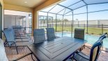 Orlando Villa for rent direct from owner, check out the Covered lanai with patio table & 6 chairs