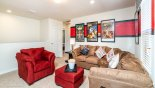 Orlando Villa for rent direct from owner, check out the Upstairs entertainment loft at top of stairs