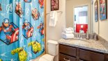 Orlando Villa for rent direct from owner, check out the Ensuite bathroom #5 with bath & shower over