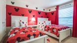 Baymont 3 Villa rental near Disney with Bedroom #4 with Mickey Mouse theming & twin beds