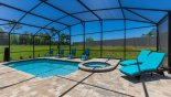 Villa rentals near Disney direct with owner, check out the Pool & spa with 6 sun loungers