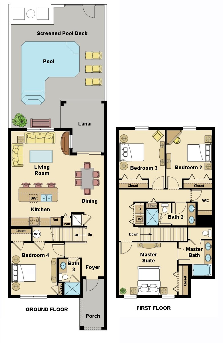 Beach Palm 16 Floorplan
