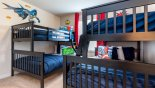 Orlando Villa for rent direct from owner, check out the Marvel themed bunk bedroom #3