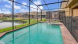 Heated private pool with raised spa - perfect for relaxing - www.iwantavilla.com is the best in Orlando vacation Villa rentals