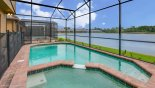 Spacious rental Windsor at Westside Villa in Orlando complete with stunning Private enclosed east facing pool with spectacular lake views