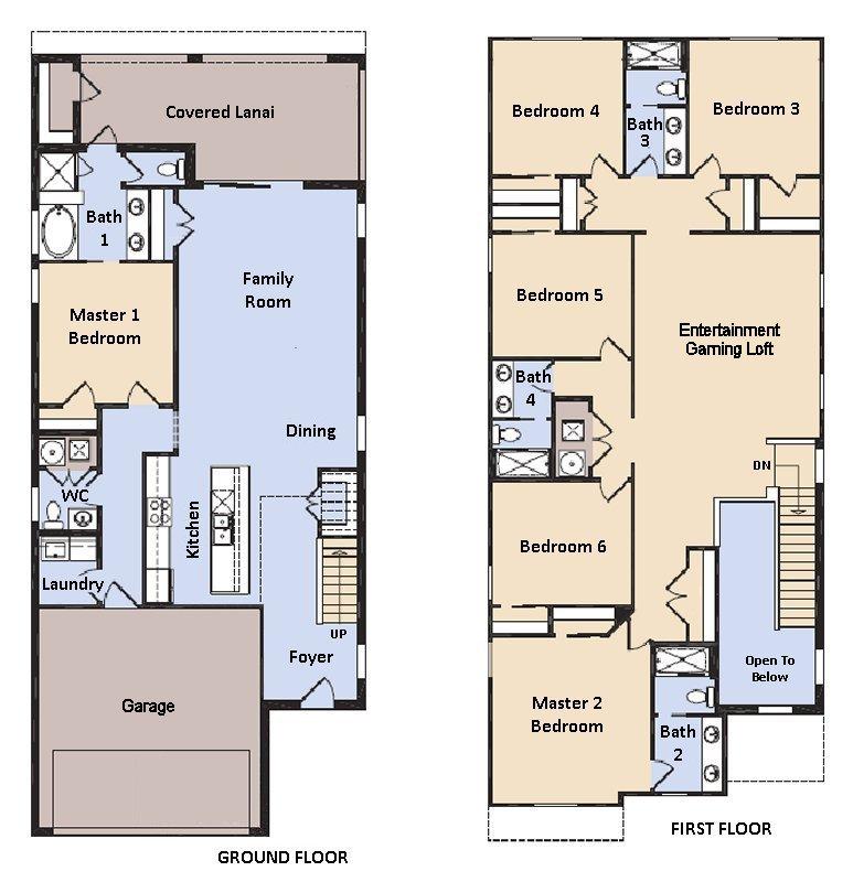 Hideaway 5 Floorplan