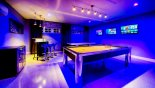 Orlando Villa for rent direct from owner, check out the Games room showing colour changing lights and 3 x 39