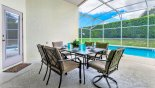 Covered lanai with patio table & 6 chairs - perfect for alfresco dining from Westbury rental Villa direct from owner