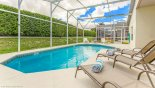 Villa rentals near Disney direct with owner, check out the Pool deck with 6 sun loungers