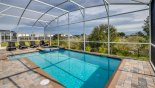 Sunny east facing pool & spa with stunning natural open wetland views with this Orlando Villa for rent direct from owner