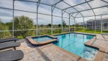 Pool deck with no rear neighbours from Fiji 2 Villa for rent in Orlando