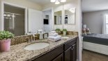 Fiji 11 Villa rental near Disney with Jack & Jill bathroom #3 with his & hers sinks & separate walk-in shower with WC