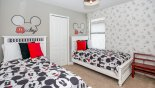 Villa rentals in Orlando, check out the Bedroom #4 with twin beds & Mickey Mouse theming