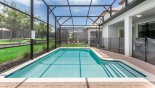 Pool deck gets the sun all day from Champions Gate rental Villa direct from owner