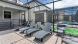 Orlando Villa for rent direct from owner, check out the Pool deck with 4 sun loungers and 2 armchairs