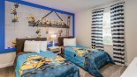 Villa rentals near Disney direct with owner, check out the Bedroom #3 with twin beds & Minions theming