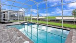 Pool deck with east facing golf course views from Fiji 10 Villa for rent in Orlando