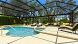 Natural screening ensured maximum privacy on the pool deck with this Orlando Villa for rent direct from owner
