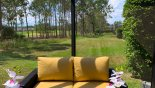 Villa rentals near Disney direct with owner, check out the View from pool deck towards golf course